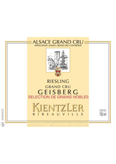 RIESLING SELECTION DE GRAINS NOBLES 2001 - 1